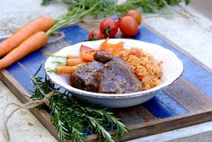 ROASTED LAMB CHOPS WITH TOMATO AND BASIL COUSCOUS - Lamb loin chops are less fatty than the more popular shoulder chops and are great when served with this easy to prepare tomato couscous!