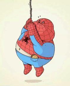 Overweight Spider Man