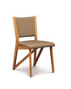 Copeland Furniture : Natural Hardwood Furniture from Vermont : Exeter Chair in Cherry - chairs and stools - dining Walnut Chair, Walnut Wood, Chair Upholstery, Upholstered Chairs, Dining Room Furniture, Dining Chairs, Dining Table, Hardwood Furniture, Plywood Furniture