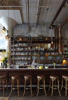 The Best Vintage Industrial Bar And Restaurant Design Ideas Decoration Restaurant, Deco Restaurant, Restaurant Design, Vintage Restaurant, Restaurant Chairs, Bar Deco, Deco Cafe, Café Bar, Bar Interior Design