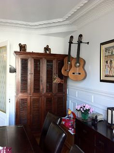 Guitar storage ideas for the study