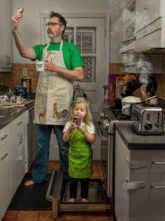 Though he started off just posting the pictures to entertain his family and friends on Facebook, Engledow ramped up his photography when some friends said they'd buy a calendar full of photos of him and Alice. | This Dad's Pictures With His 3-Year-Old Show Just How Hilarious It Is To Be A Father