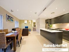 Dark kitchen, light benchtop