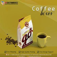 Coffee Box, Cost Saving, Custom Boxes, Free Design, Cool Designs, Packaging, Tableware, Dinnerware, Coffee Tin