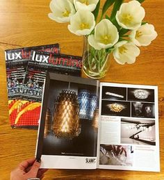 #Slamp is the star of the exclusive January issue of Luxlumina Magazin! #Slampreview - Discover more: www.slamp.com