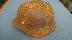 #Relic #WW2 #ORIGINAL #German #ARMY #M40 #Stahlhelm #Helmet #RIVETS #WWII #East #Front #SHELL