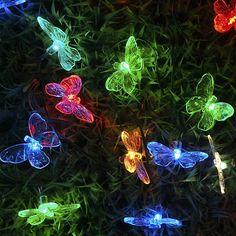 ideas para bodas en jardin | Decoracion de Jardin . Set de Luces Mariposas.