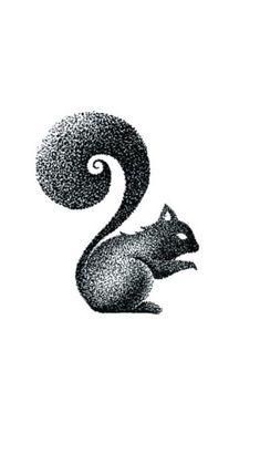 Squirrel dot tattoo
