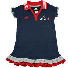 Atlanta Braves baby polo dress