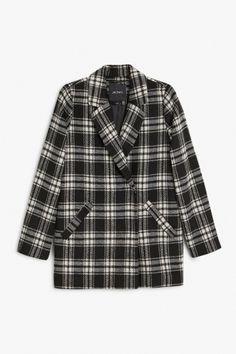 Monki Felted jacketin Black