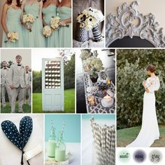 Grey mint and navy wedding filed in inspiration boards wedding wednesda Trendy Wedding, Our Wedding, Dream Wedding, Wedding Stuff, Wedding Things, Wedding Hair, Beach Wedding Groomsmen, Groomsmen Grey, Wedding Inspiration
