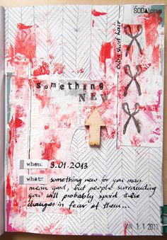 "made by Marysza ► SODAlicious art journal challenge No18 ""Something new"""