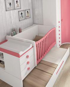 Cuna convertible + cama nido + Armario -> 1.717€