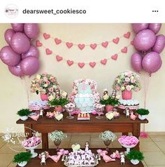 Ideas Para Fiestas, Cake Table, Barbie, Baby Shower, Decorations, Birthday, Sweet, Party, Baby Party