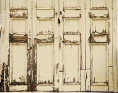 Cream Door Peeled Backdrop, Vintage White Door Backgound, Double sided wrinkle free drops