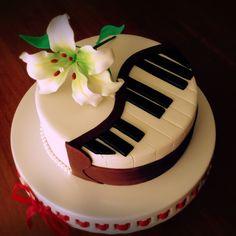 торт - пианино