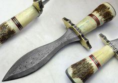 "11.50"" Custom Made Beautiful Damascus Steel Dagger Knife (759-3) #UltimateWarrior"