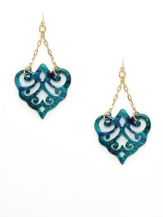 Bellissima Filigree Hanging Drop Earrings