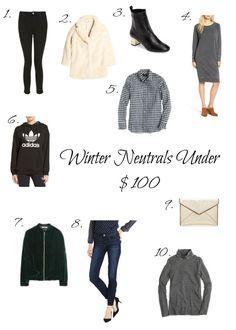Winter Neutrals Under $100