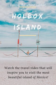 HOLBOX ISLAND in Mexico is the new TULUM. Watch our travel inspiration video from this beautiful island for some beach inspiration ! Holbox Island Mexico, Hai, Travel Videos, Most Beautiful Beaches, Island Beach, Heaven On Earth, Beautiful Islands, Tulum, Travel Around