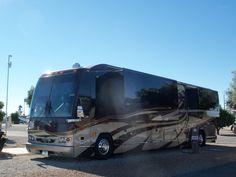 """Prevost """"Elegant Lady"""" by Liberty Coach. Bus Camper, Campers, Prevost Coach, Prevost Bus, 67 72 Chevy Truck, Chevy Trucks, Luxury Bus, Luxury Travel, Luxury Motorhomes"""