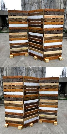 Pallet Wood Plans For House - diypalletideas : old wood pallet room divider idea Wood Pallet Fence, Pallet Room, Wood Pallet Recycling, Pallet Crafts, Diy Pallet Projects, Recycled Wood, Wooden Pallets, Wooden Diy, Pallet Ideas