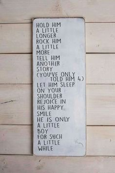 Little boy poem on wood sign, signs for baby boy, wood signs for boys room, wood… Baby Kind, Our Baby, Baby Love, Baby Baby, Baby Boy Rooms, Baby Boy Nurseries, Kids Rooms, Baby Bedroom, Bedroom Wall