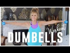 Arm workout For Women over 5 minute toned arm workout with dumbell weights to tone your arms and get rid of those Flabby Bat Wings forever! 5 Minute Arm Workout, Dumbbell Arm Workout, Tone Arms Workout, Arm Toning Exercises, Arm Workouts, Fat Workout, Lose Arm Fat, Lose Belly Fat, Tank Top Arms
