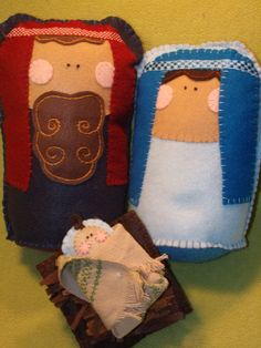 nativity out of felt
