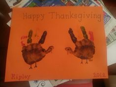 I made placemats with 1 year olds for a Thanksgiving feast at preschool.