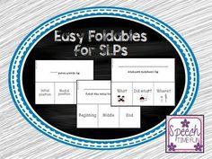 Speech Time Fun: Basic Foldables for SLPs....FREEBIE!!