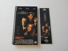 VHS Notebook, 4.00 X 7.50, 90 pages, Casino, Upcycled Notebook, Movie Notebook, Sharon Stone, Joe Pesci, Robert De Niro, Matching Bookmark by LeeEmporium on Etsy