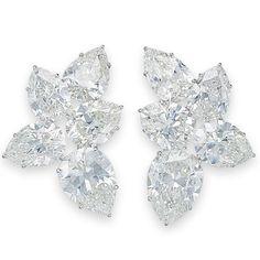 Ruby And Diamond Necklace, Diamond Chandelier Earrings, Cluster Earrings, Diamond Jewelry, Beautiful Diamond Rings, Luxury Jewelry, Harry Winston, Jewelery, Fine Jewelry