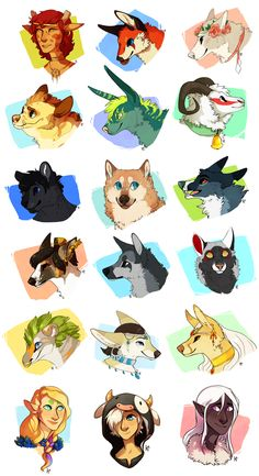 Lotsa Busts by Susiron on deviantART. #3 on the first row is my favourite!