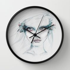 wanness Wall Clock by habeco - $30.00 #watercolour #society6