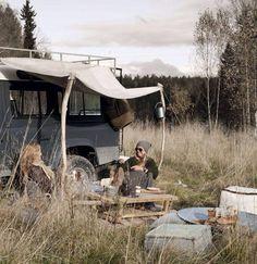 Land Rover - campsite