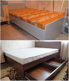 Ничего лишнего: простейшие конструкции кроватей, которые можно сделать самому Mattress, Bench, Storage, Furniture, Home Decor, Purse Storage, Decoration Home, Room Decor, Benches