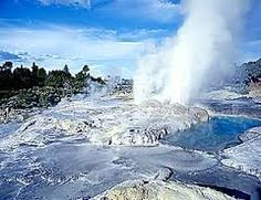 The famous 'Prince of Wales' and 'Pohutu' geysers at the NZ Maori Arts & Crafts Institute, Te Whakarewarewa Thermal Valley, Rotorua, North Island, New Zealand New Zealand North, New Zealand Travel, Great Places, Places To See, Places Ive Been, Kiwiana, South Island, Travel Images, Holiday Destinations