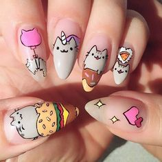 cool 20 Puuuurfect Cat Manicures Nail Designs For The Cat Lover In You - Stylendesigns.com!