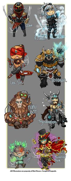 This is what I have been working on since -- well it's been awhile for just some chibis!!! BUT THEY ARE FINALLY FINISHEEEED! I am so happy to present this to my watchers and league of legends lover...