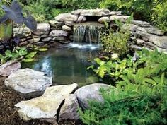 DIY Backyard Pond - I would love to have this in my yard!!! by lemai13