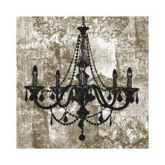 Vintage Chandelier LED Lighted Canvas Art | Chandeliers, Canvases ...
