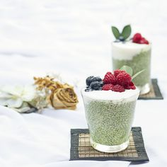 This brekkie or snack will keep you fuller for longer and help prevent sugar cravings with fibre from Organic Burst Wheatgrass and Chia seeds. Rich in healthy f