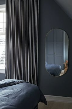 2019_12_03_dyssegaard5293 Hotel Inspired Bedroom, Ikea Hacks, Master Bedroom, Bob, Curtains, Interior Design, Modern, Home Decor, Blue Tones