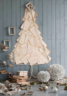 Unechte Weihnachtsbäume basteln ist das neue Plätzchen backen!