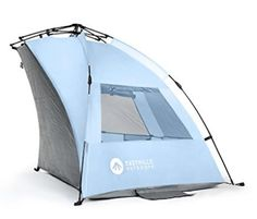 Easthills Outdoors Instant Shader Extended Easy Up Beach Tent Sun Shelter - Extended Zippered Porch Included. Frightened by the complexity of the regular poles tent? Best Tents For Camping, Tent Camping, Outdoor Camping, Outdoor Gear, Camping Mats, Beach Camping, Camping Stuff, Outdoor Stuff, Glamping