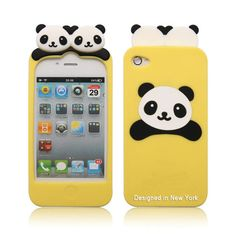 New Style Cute PANDA Soft Silicon Back Case Cover Skin for Apple iPhone 4 4s YL