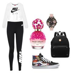 """My style"" by izabellaforever ❤ liked on Polyvore featuring Marc Jacobs, Vans, NIKE and Olivia Burton"