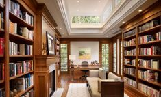 Home Library Room Modern Architecture 63 Ideas For 2019 Cozy Home Library, Home Library Rooms, Home Library Design, Home Libraries, House Design, Library Ideas, Dream Library, Bookstore Design, Modern Library