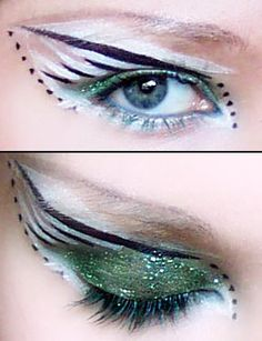 Use black where it is green and yellow where it is white and silver where there are lines and dots for batman makeup.